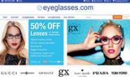 美国在线眼镜商城:Eyeglasses.com