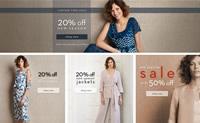英国女士正式场合服装购物网站:Jacques Vert