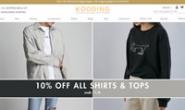 韩国美国时尚服装和美容在线全球市场:KOODING