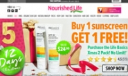 澳大利亚天然护肤品、化妆品和健康产品一站式商店:Nourished Life