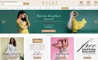 为女性购买传统的印度服装和婚纱:Kalkifashion