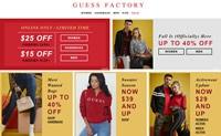 GUESS Factory加拿大:牛仔裤、服装及配饰