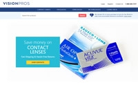 VisionPros美国站:加拿大在线隐形眼镜和眼镜零售商