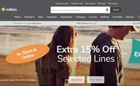 英国户外服装、鞋类和设备的领先零售商:Millets
