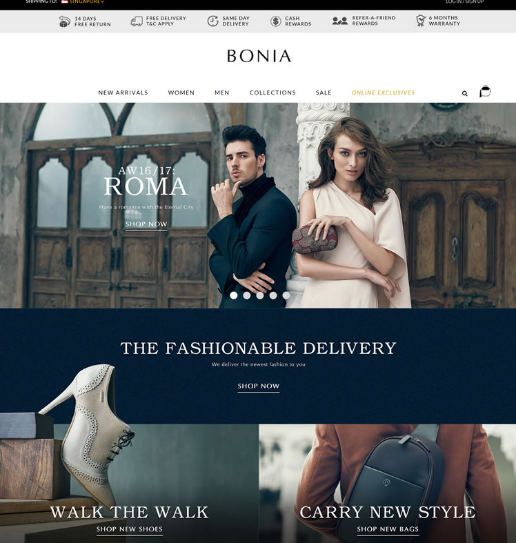 BONIA Official Website