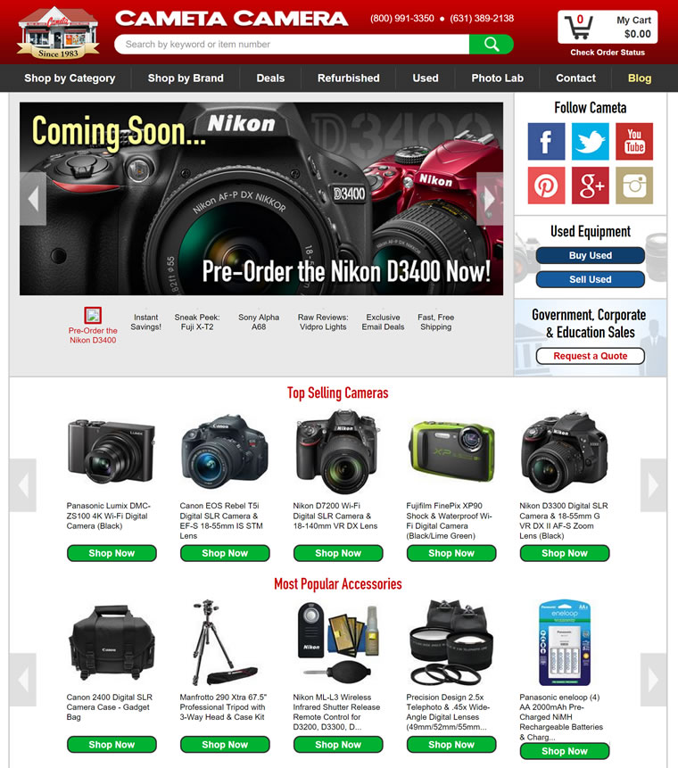 Cameras for Sale Buy a Digital Camera from Camet