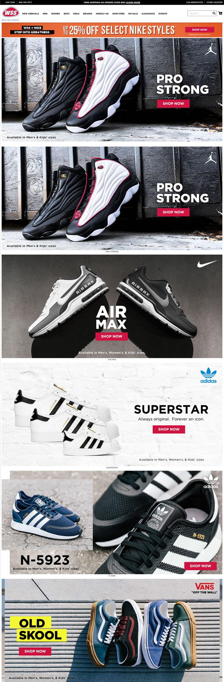 美国一家运动专业鞋类零售商:Warehouse